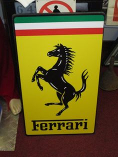 Automobilia-UK - supplying vintage petrol pumps, globes, signs and general automobilia to collectors across the UK and throughout the world. Ferrari Sign, Signage, Pumps, Globes, Lamborghini, 50th, Garage, Barn, Racing