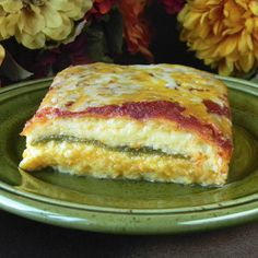 Layered Mexican Delight - An easy chile rellenos casserole recipe the whole family will love!
