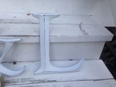 Wall Decor Large Letter Shabby Chic Wall Decor  by LaBellasCottage, $22.50