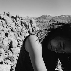 Taking a rest in Joshua Tree. Staying cool in an organic cotton tank by Victor Athletics.