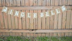 Burlap 'Jingle Bells' Banner by TheRusticChicBtqe on Etsy