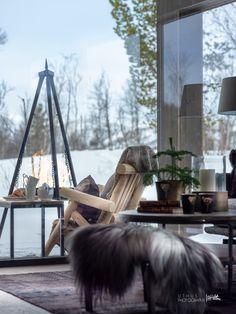 Nyoppført, lekker hytte levert av Sjemmdalhytta | FINN.no Cottage Homes, Outdoor Furniture, Outdoor Decor, Scandinavian Design, Hammock, Skiing, Baby 2017, Mountain, Home Decor