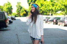 Patterned headband and neutral colours. -- Week #1 - June - PEOPLE! - ZARA United Kingdom