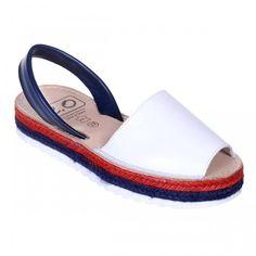 Sandale AVARCA din Piele Alba cu talpa dubla Espadrilles, Shoes, Fashion, Sandals, Espadrilles Outfit, Moda, Zapatos, Shoes Outlet, Fasion
