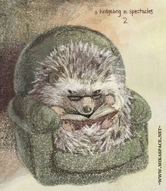 -mikaspace.net: Hedgehog in chair-