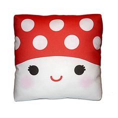 Mini Pillow - Happy Mushroom. $18.00, via Etsy.