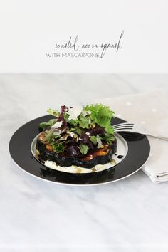 Roasted Acorn Squash with Mascarpone from Freutcake | lark&linen