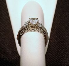 White Gold Diamonds Station Solitaire Wrap Ring Guard Solitaire Enhancer (0.50ct. tw)-RG331490947403
