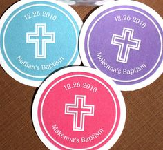 PRINTABLE Baptism Sticker Labels Tags with Cross  by ladybuglabels, $10.00