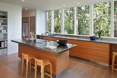 ventanas de aluminio en la cocina