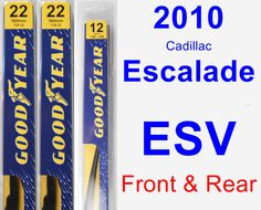 Front & Rear Wiper Blade Pack for 2010 Cadillac Escalade ESV - Premium