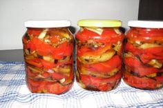 Conserva de vinete cu ardei si usturoi pentru iarna