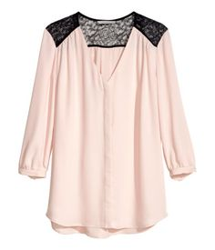 Blush lace blouse from H&M, to work and dress up for a night out with your Everpurse.