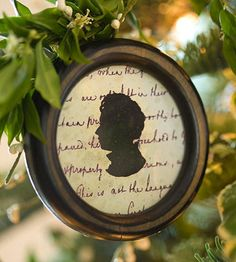 christmas ornament    Old-fashioned silhouettes are popular once again. Using a photo as a guide, trace a silhouette onto black paper and cut it out. Line the back of a small frame with decorative paper, then glue the silhouette on top. Hang with a pretty ribbon.