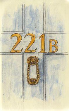 Door to from Chicken Fox Studios' Sherlock sketch book. Door to from Chicken Fox Studios' Sherlock sketch book. Sherlock Holmes Bbc, Sherlock John, Sherlock Holmes Tattoo, Benedict Sherlock, Jim Moriarty, Johnlock, Sherlock Drawing, Detective, Robert Downey Jr.