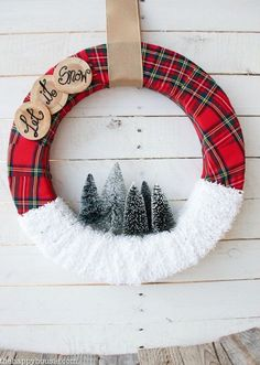 diy-simple-thrifty-let-it-snow-winter-wreath-tutorial-at-the-happy-housie The post & it Snow& Christmas Wreath appeared first on Dekoration. Holiday Wreaths, Holiday Crafts, Christmas Decorations, Christmas Ornaments, Mesh Wreaths, Winter Wreaths, Floral Wreaths, Burlap Wreaths, Spring Wreaths