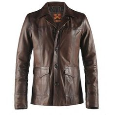 Soul Revolver Hitman Fight Club Style Leather Jacket Brown