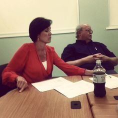 Commissioners Murguia and Walker working at the Argentine Neighborhood Development Association annual meeting.