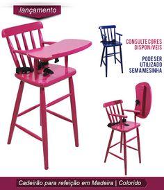 """Mais um lançamento Empório Conceito, Cadeira para Refeição Infantil Color Conceito. Prática e versátil a mesinha articulável facilita e com cinto para fixação da maior segurança a criança. A cores divertidas trazem algo além para chamar a atenção das criança e deixar a hora do """"Papá"""" ainda mais especial. #lançamento #Emporioconceito #Cadeirãoinfantil #criançasegura  http://www.emporioconceito.com.br/cadeira-para-refeicao-infantil-colorido.html"""