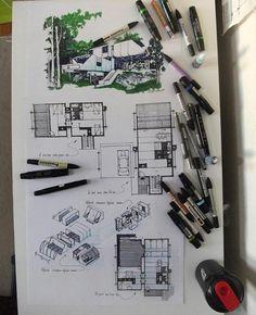 "3,476 curtidas, 7 comentários - Papo de Arquiteto (@papodearquiteto) no Instagram: ""Desenho feito por @ayssbagram ・・・ prefabrikasyonun bazı prensiplerini bu proje ile sizlerle…"""