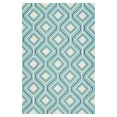 Kaleen Rugs Escape Geo Indoor/Outdoor Area Rug Blue 2'x3'