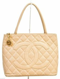 Chanel Medallion Handbag Tan Tote Bag $2,135