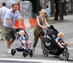 Here is the Phil and Teds Stroller that Naomi Watts and Liev Schreiber were pushing their boys around in.