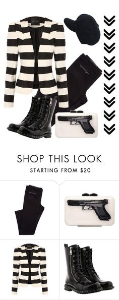 """""""Black & White"""" by jez-alex ❤ liked on Polyvore featuring Yazi, Jane Norman and Dolce&Gabbana"""