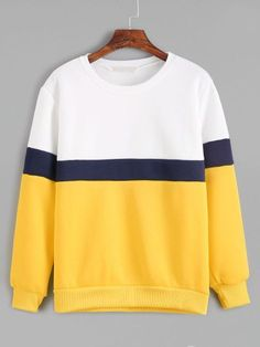 Shop Color Block Long Sleeve Sweatshirt online. SheIn offers Color Block Long Sleeve Sweatshirt & more to fit your fashionable needs.