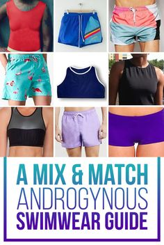 Mix And Match Androgynous Swimwear For People Of Any Gender