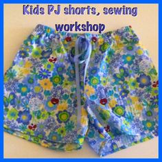 Pj Shorts, Boho Shorts, Fun Group, Sewing Class, Shorts With Pockets, Sewing For Kids, Gold Coast, Cool Kids, Elastic Waist