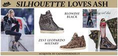 #Silhouette Donna suggerisce le #sneakers di #Ash con zeppa Blondie e quelle animalier Zest Leopardo!