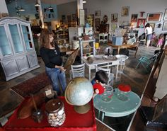 Paper Street Market, an awesome new antique shop on Central Ave.