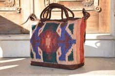 Beautiful Handmade Wool Taos Weekender Bag by Tienditaboutique