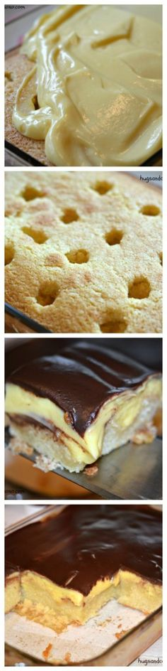 Deep Dish Boston Cream Pie Poke Cake