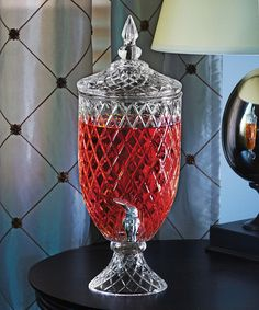 Love this Exquisite Glass Beverage Dispenser on #zulily! #zulilyfinds