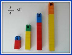 Lego Fractions: Hands-On Learning @ SoYouCallYourselfaHomeschooler.com