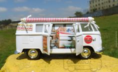 Miniatura Kombi Pastel de Feira Food Truck | #MiniaturasCriativas