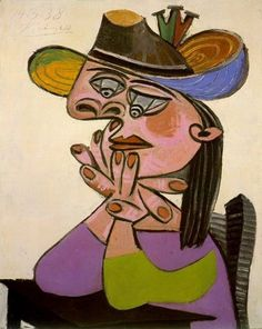 Pablo Picasso -  Femme accoudee 1938