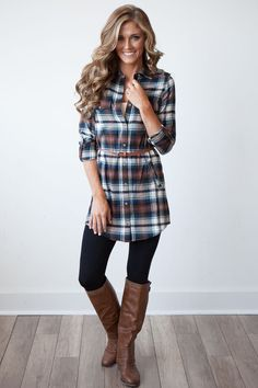 b2dd4823a94 49 Lovely Fall Outfits Ideas With Flannel. Flannel DressPlaid Shirt Dresses Long ...