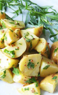New Potato Salad with Lemon + Mustard Herb Dressing