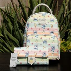 Loungefly Disney Stitch Fruits Bag Set on Mercari Stitch Backpack, Backpack Purse, Fashion Backpack, Disney Handbags, Disney Purse, Cute Mini Backpacks, Mini Mochila, Kawaii Bags, Cute Bags