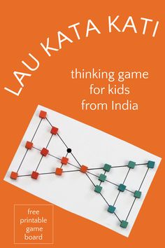 Fun diy game for kids from India. An abstract strategy board game that promotes logical thinking, perseverance and sportsmanship. Great way to get kids off the screens, and a good boredom buster that builds important skills. Games To Play With Kids, Kid Games, Fun Crafts For Kids, Activity Ideas, Craft Activities For Kids, Activity Games, Infant Activities, Family Games, Learning Activities