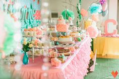 Chloie's Shabby Chic Bunny Themed Party – Sweet Treats Spread