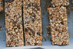 spiced apricot, orange + quinoa muesli bar recipe {gluten + dairy-free}-my darling lemon thyme Healthy Muesli Bar Recipe, Healthy Bars, Healthy Sweets, Healthy Snacks, Eating Healthy, Kid Snacks, Healthy Recipes, Clean Recipes, Sweet Recipes