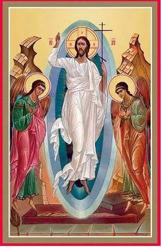 No Encontro...: ~ Soltas ~ Religious Images, Religious Icons, Religious Art, Orthodox Catholic, Catholic Art, Christ Is Risen, Christ The King, Monastery Icons, Greek Icons