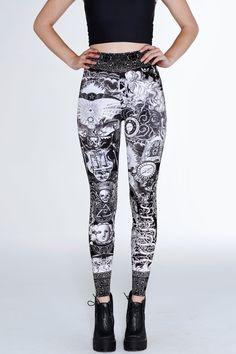 Til Death Do Us Part High Waisted Velvet Leggings – 7 DAY UNLIMITED ($75AUD) by BlackMilk Clothing