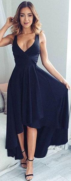 #fall #work #outfits | Black 'Magic Dancer' Dress