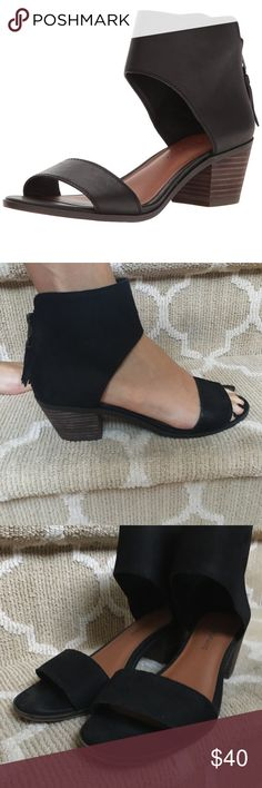 9bc7974e140f Lucky Brand Barbina Sandals Lucky Brand ankle strap block heel sandals with  tassel zip back.