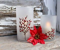 etched candle holders perfect for the holidays, diy home crafts, seasonal holiday d cor, Etched Candle Holders for the holidays